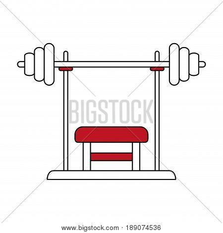 press bench illustration icon vector design graphic