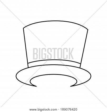 Magician hat accesory icon vector illustration graphic design