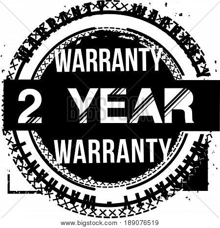 2 year warranty vintage grunge rubber stamp guarantee background