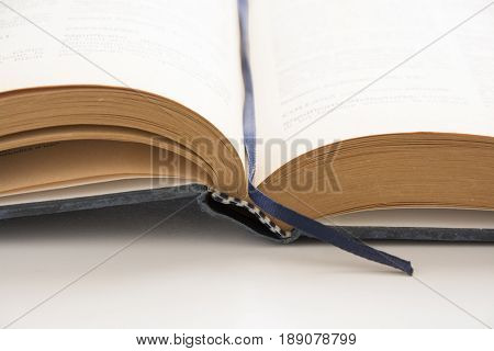 Open old book antique literature source of knowledge education