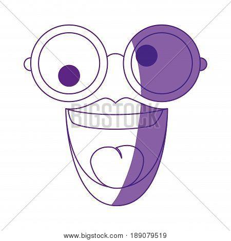 Crazy cartoon with glasses icon vector illustration graphic design