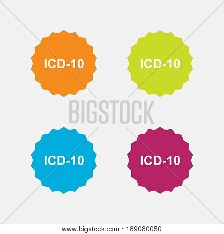 set medical icon code flat design rescue cavity editable vector image