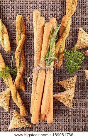 breadsticks and snacks