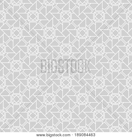 Arabic ornaments. Gray vintage seamless pattern for textile and wallpaper. ector illustration