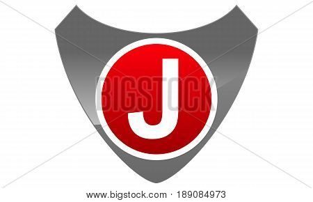 This image describe about Modern Logo Shield Letter J