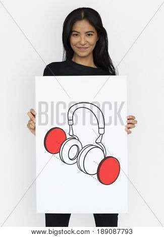 Earphone Headphone Listen Music Graphic