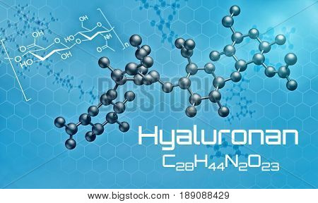 Three-dimensional Molecular Model Of Hyaluronan - 3D Render