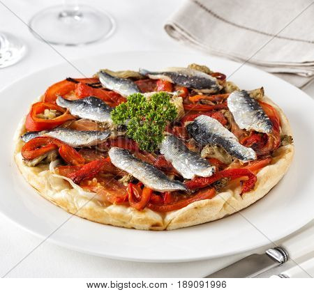 Pissaladiere typical food from the Nice region France.
