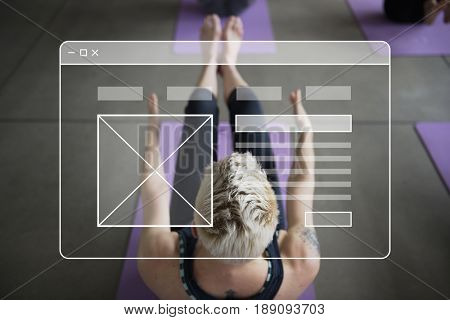 Website Template Layout Blank Banner Graphic