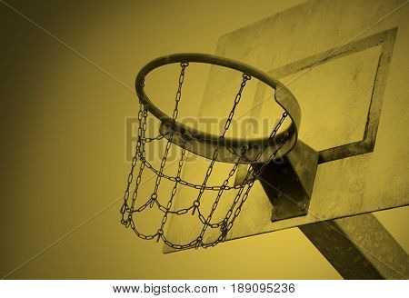 Basketball Court In An Old Jail, Yellow