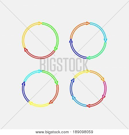 a set of circular marks circular motion direction of motion fully editable vector image