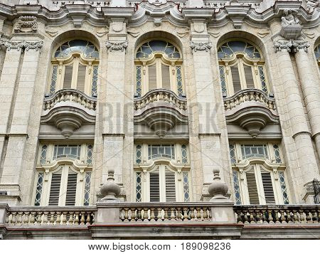 Old Havana downtown architectural detail Great Theatre of Havana - Havana Cuba