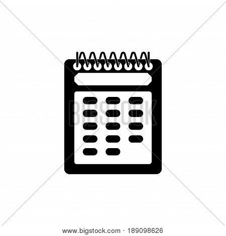 Calendar icon Beli black color editable vector image