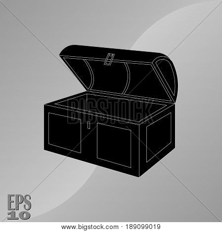 icon discoveries chest treasure the location of the treasure the icon for the mobile device and web design fully editable vector image