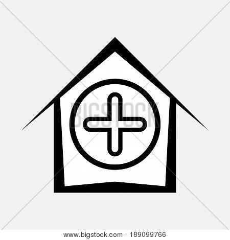 icon hospital health assistance to the needy fully editable vector image