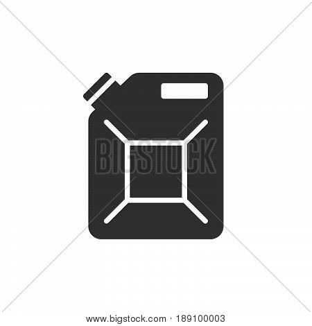 Jerrycan canister icon vector filled flat sign solid pictogram isolated on white. Symbol logo illustration. Pixel perfect