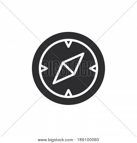 Compass navigation icon vector filled flat sign solid pictogram isolated on white. Symbol logo illustration. Pixel perfect