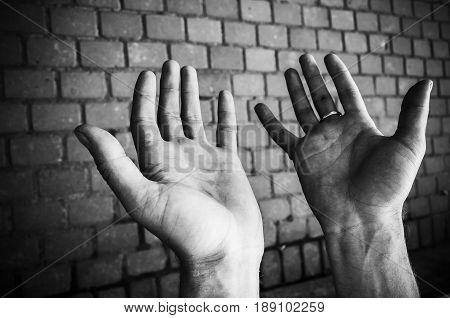 Empty Hands Of A Working Man, Closeup