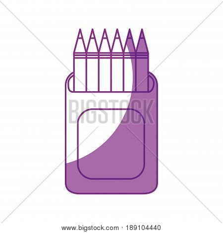 Pencils colored box icon vector illustration graphic design