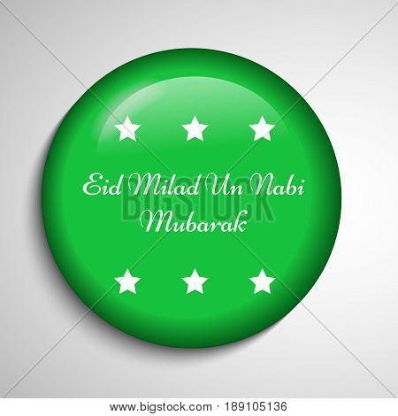 illustration of stars with Eid Milad Un nabi Mubarak text