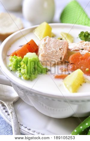 Fish Chowder With Vegetables.