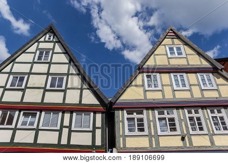 Half-timbered Houses In The Historic Center Of Celle
