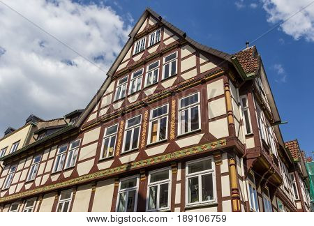 Half-timbered House In The Historic Center Of Celle