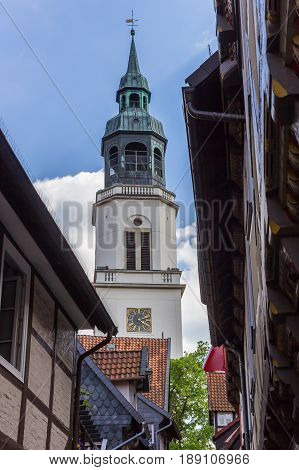 Tower Of The St. Marien Church In Celle