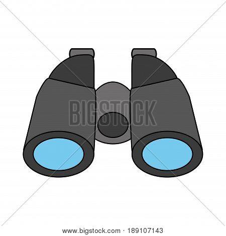 color silhouette cartoon binocular field glasses vector illustration