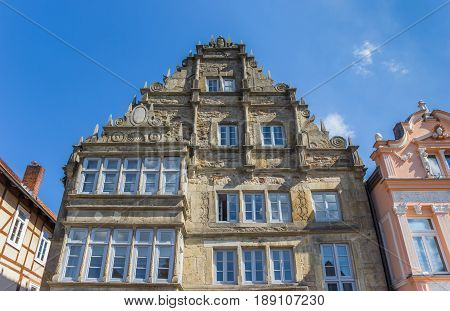 Facade Of An Old Building In The Center Of Stadthagen