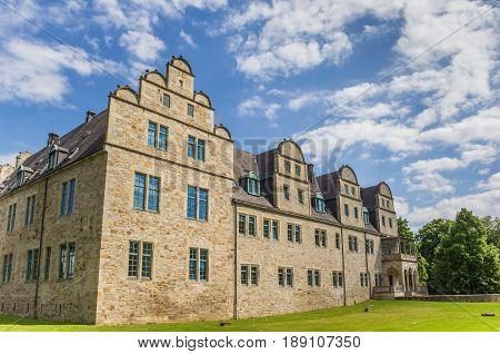 Castle And Garden In He Historic Center Of Stadthagen