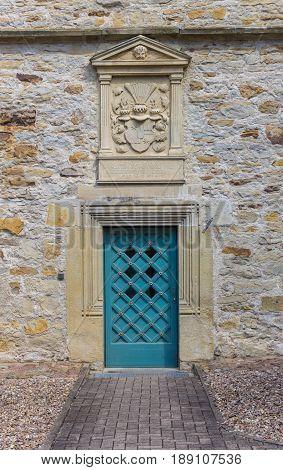 Blue Door Of The Castle Of Stadthagen
