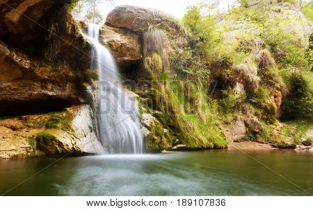 Waterfalls In The Forest Catalan