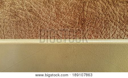 Plastic Board Over Soft Velvet Fabric In Light Brown Color