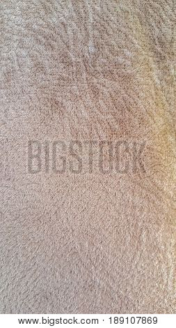 Soft Velvet Fabric In Light Brown Color Background