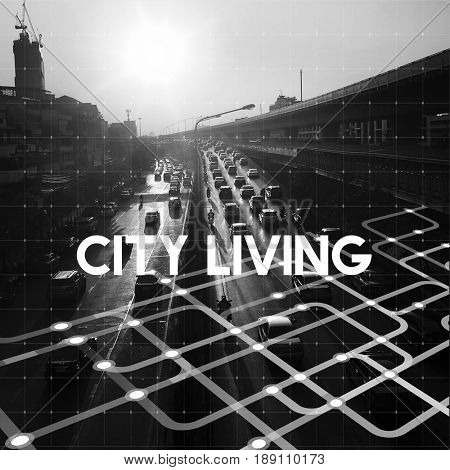 Life City Town Urban Living Place