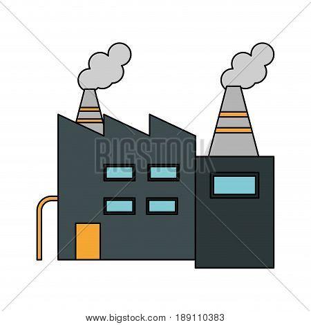 color image cartoon building industrial factory vector illustration