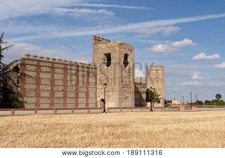Walls Of Madrigal De Las Altas Torres, Avila Province, Spain