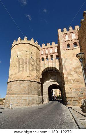 San Andres door in Segovia Castilla-La Mancha Spain
