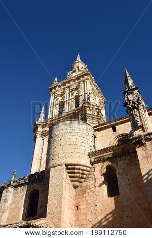 Bell tower of Cathedral El Burgo de Osma Soria province Castilla-Leon Spain
