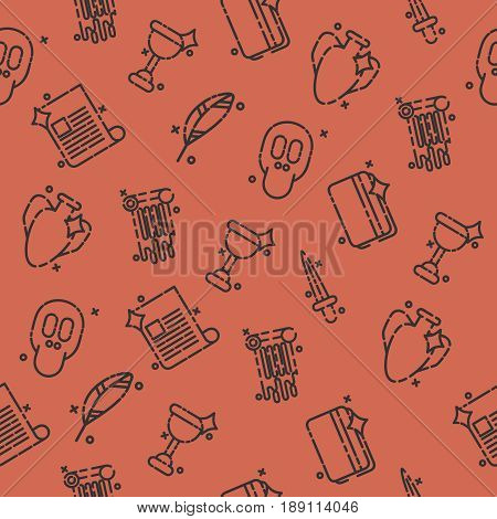 History and culture icons pattern. Vector illustration, EPS 10