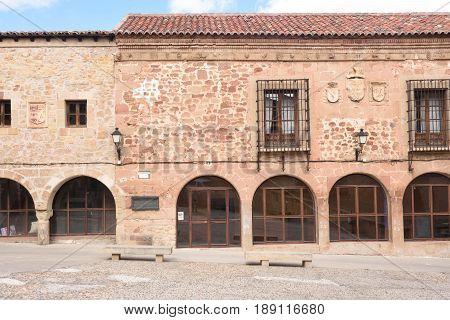 Jail square (Plaza de la Carcel) in Siguenza Guadalajara province Castilla-La Mancha Spain.