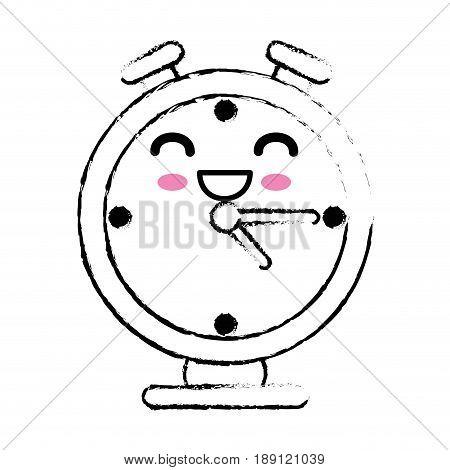 kawaii chronometer icon over white background. vector illustration