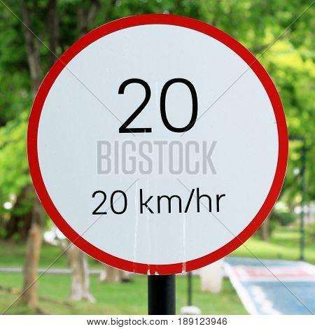Speed Limit Sign 20