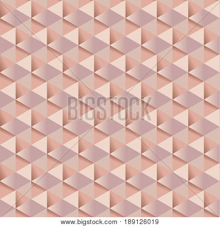 pale color rosy tender elegant abstract repeatable motif. geometry feminine wallpaper illustration. chic wrapping paper seamless pattern with 3d illusion