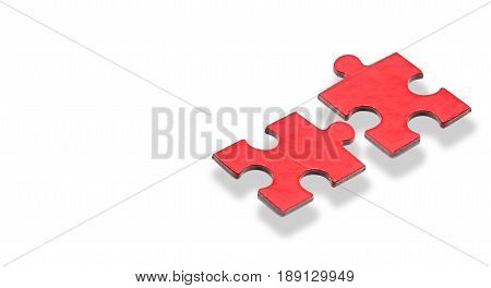 puzzle and jigsaw business concept with path