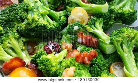 Healthy and delicious freshly made broccoli salad