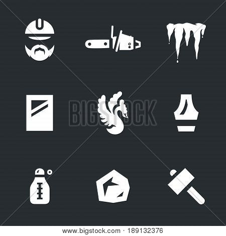 Sculptor, chainsaw, ice, block, sculpture, chisel, thermometer, hammer.