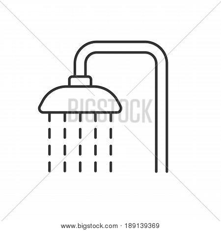 Shower linear icon thin line vector photo bigstock for Ducha facil