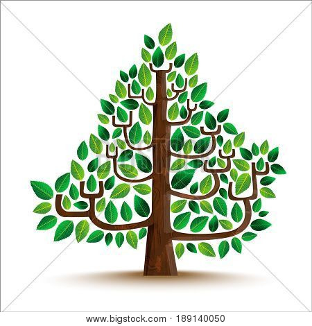Green Tree Nature Illustration In Hand Drawn Style